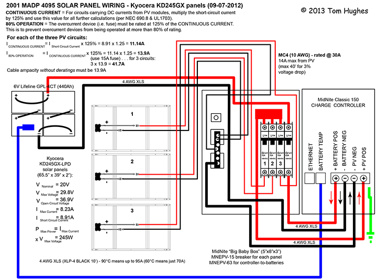 solar panel wiring diagram for home rv solar system wiring diagram (page 3) - pics about space