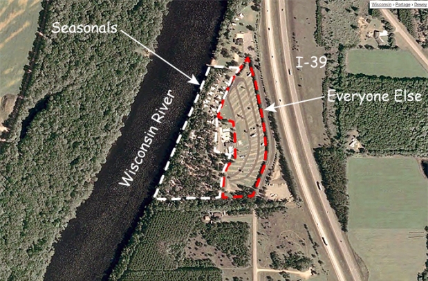 Rivers Edge Campground, Stevens Point, WI