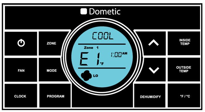 The dreaded Dometic E1 Error Code