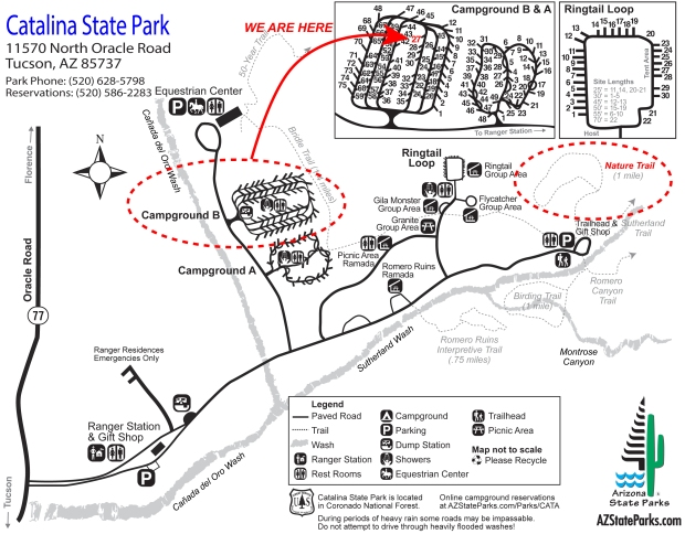 Catalina State Park Map (click to enlarge)
