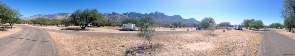 Panoramic view of mountains around Catalina State Park