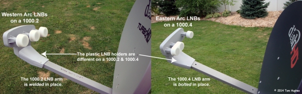 1000.2 vs 1000.4 Default LNB Arms