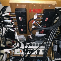 TV Cabinet Inside (closeup of AB switches)