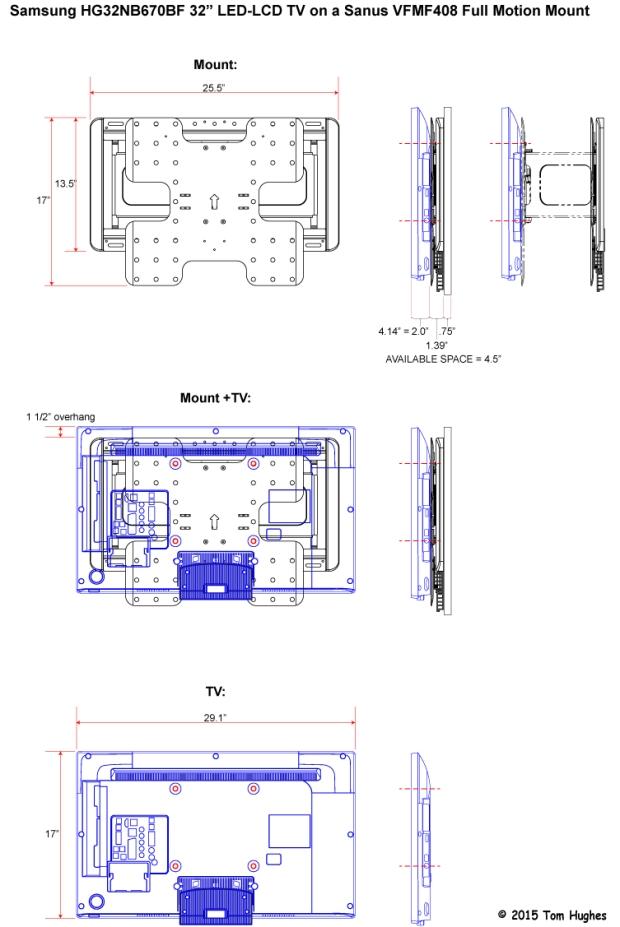 Sanus Mount & Samsung TV (click to enlarge)
