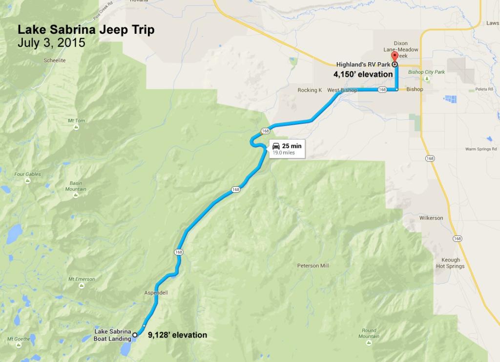 Lake Sabrina Route
