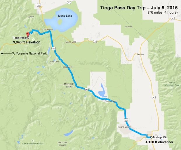 Toga Pass Route (click to enlarge)