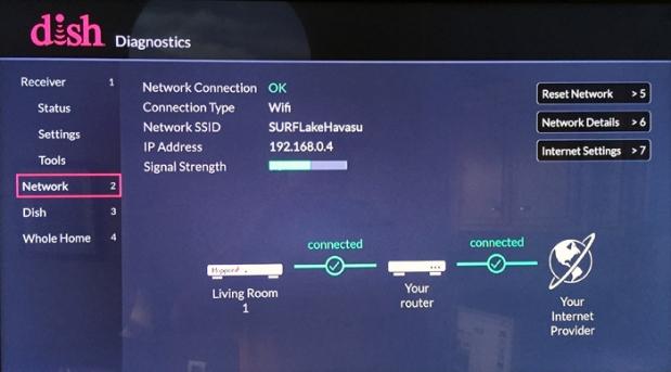 Diagnostics > Network