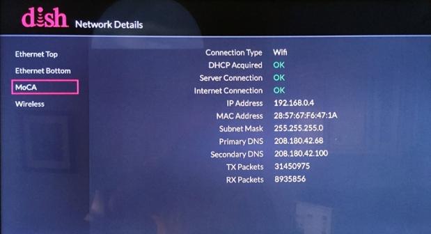 Diagnostics > Network > Network Details