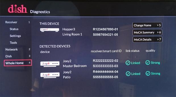 Diagnostics > Whole Home
