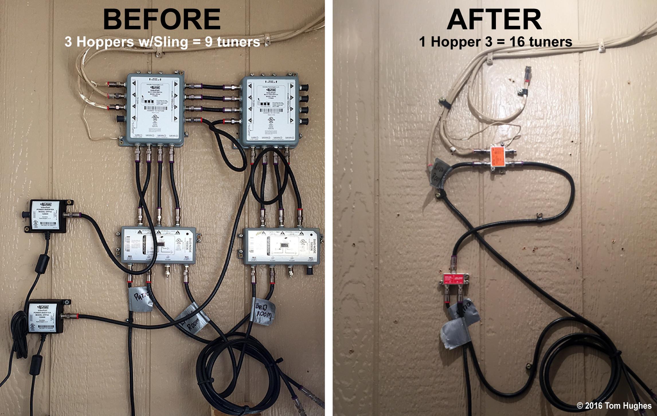 hopper3_install03_before after wiring?resize=665%2C421 dish tv hopper wiring diagram the best wiring diagram 2017 dish tv wiring at honlapkeszites.co