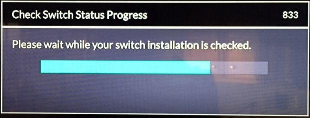 Check Switch 833 screen