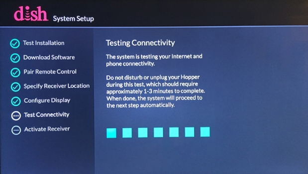 System Setup > Testing Connectivity