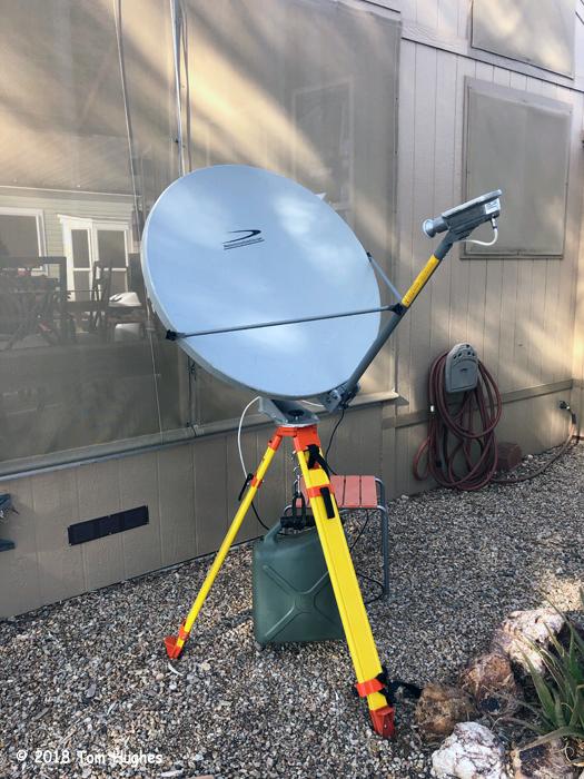 HughesNET Eval2 dish setup