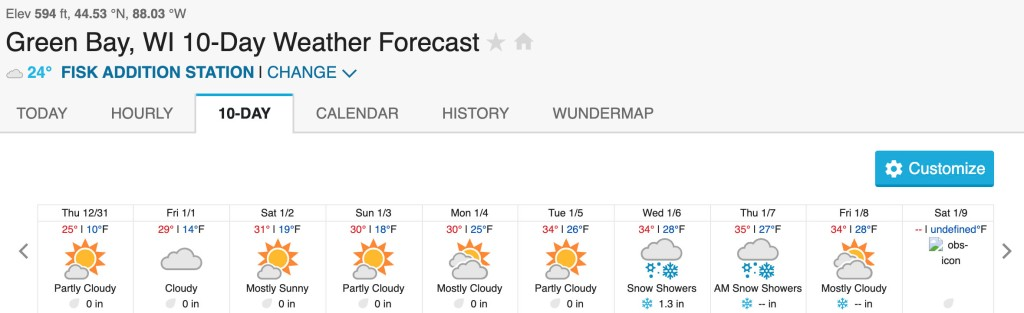 Green Bay, WI 10-Day Forecast